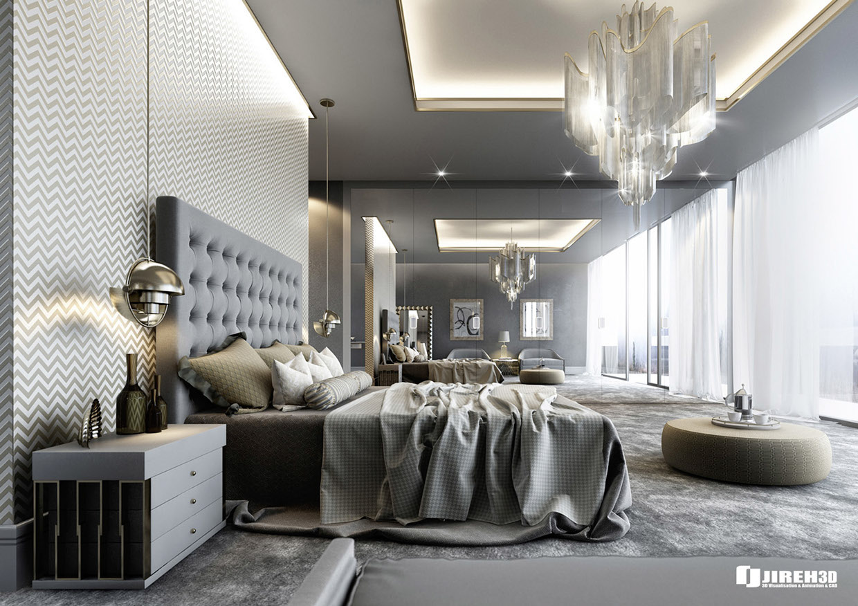 8 luxury bedrooms in detail for Luxury modern bedroom