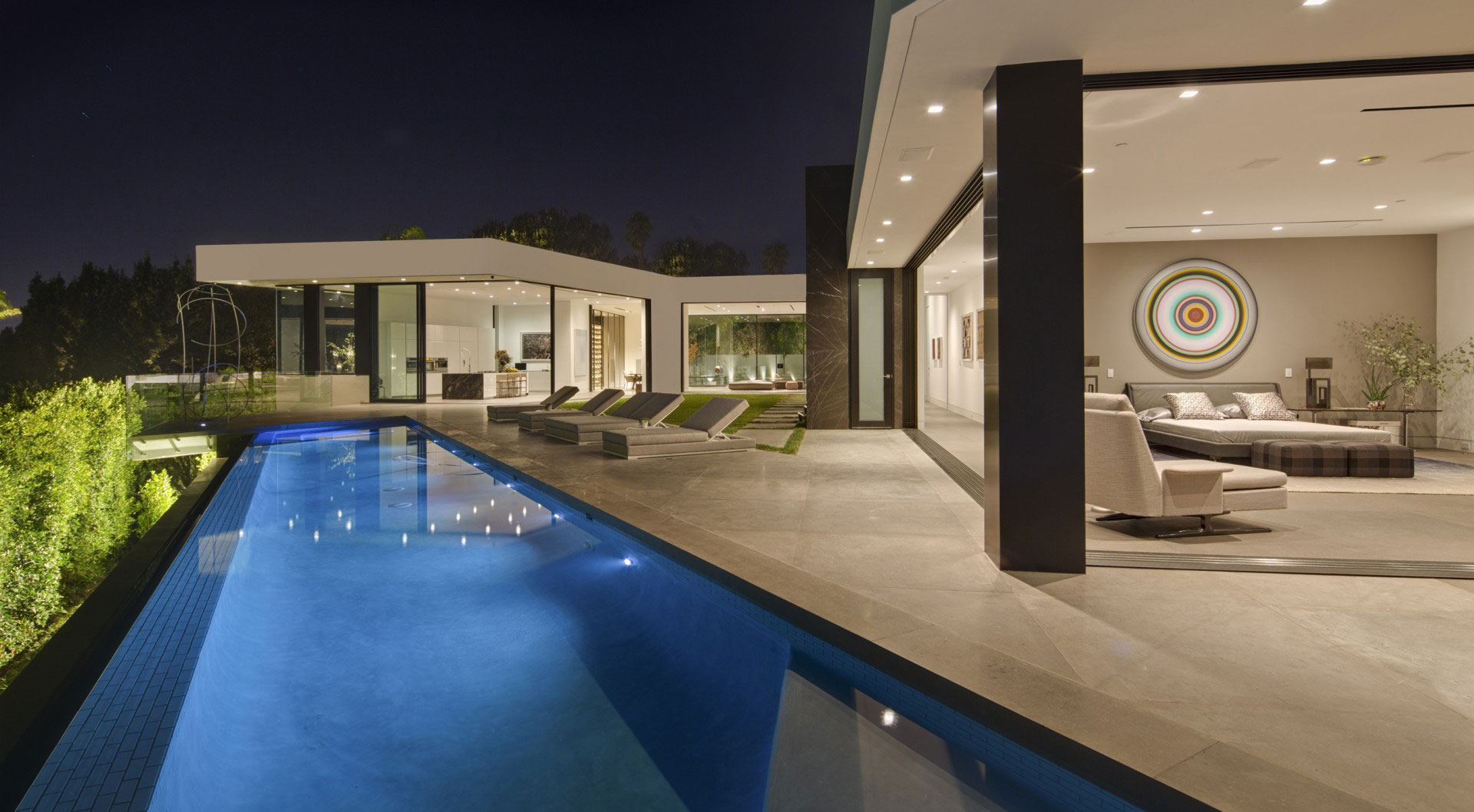 Stone Patio - A dramatic glass home overlooking the l a basin
