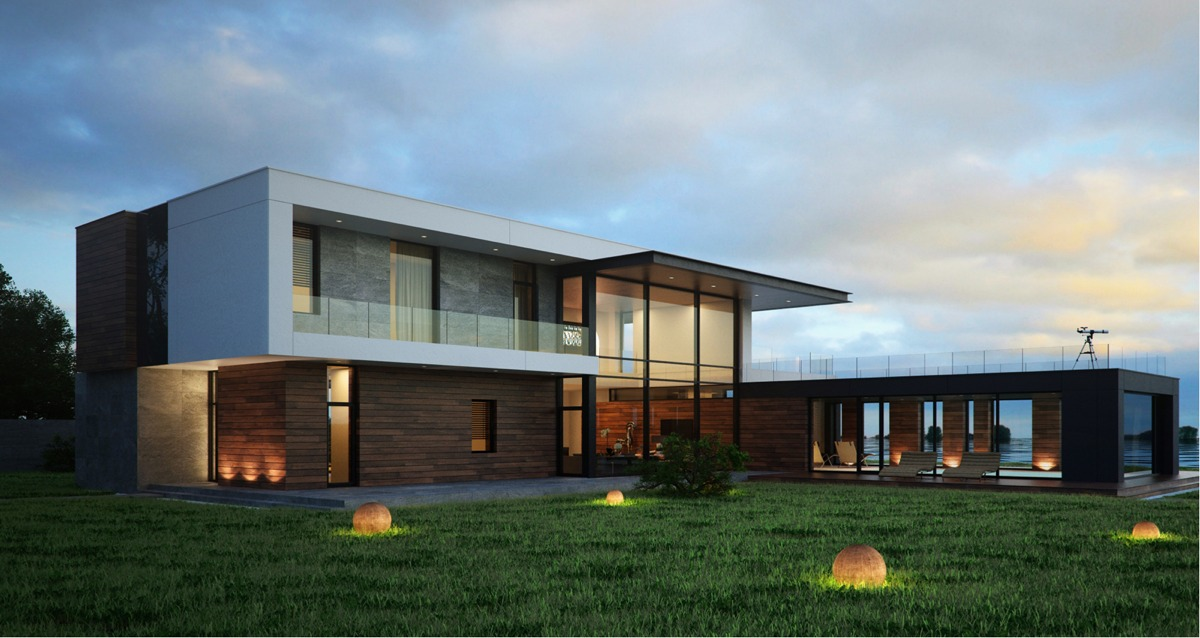 Modern home exteriors with stunning outdoor spaces for New contemporary houses