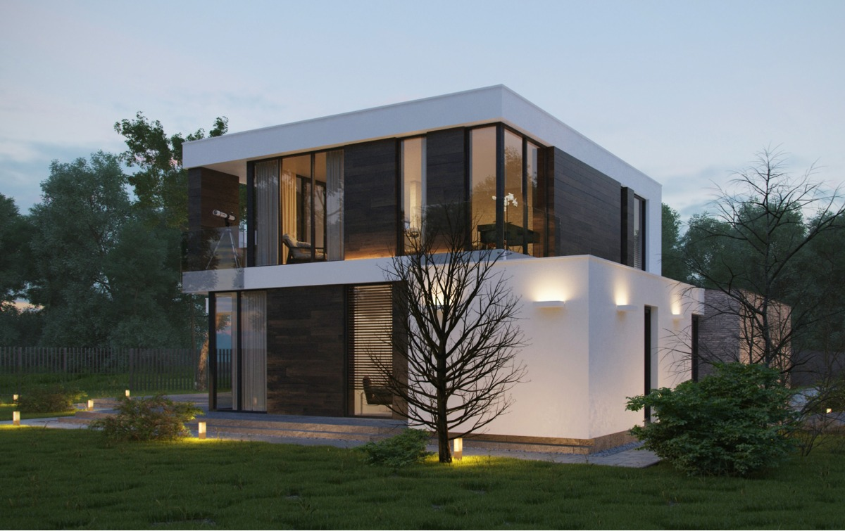 Modern home exteriors with stunning outdoor spaces for Exterior design of 2 storey house