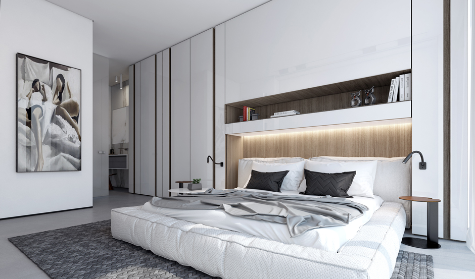 4 contemporary home visualizations with sleek sophistication for Clean bedroom designs