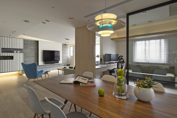 2 beautifully modern minimalist asian designs for Living room dining area designs