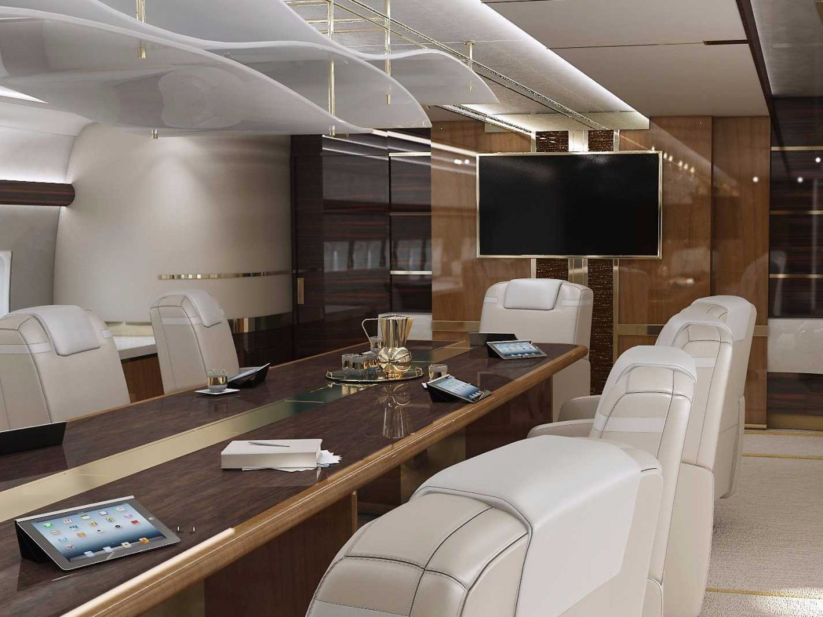 Airplane Boardroom Interior Design Ideas