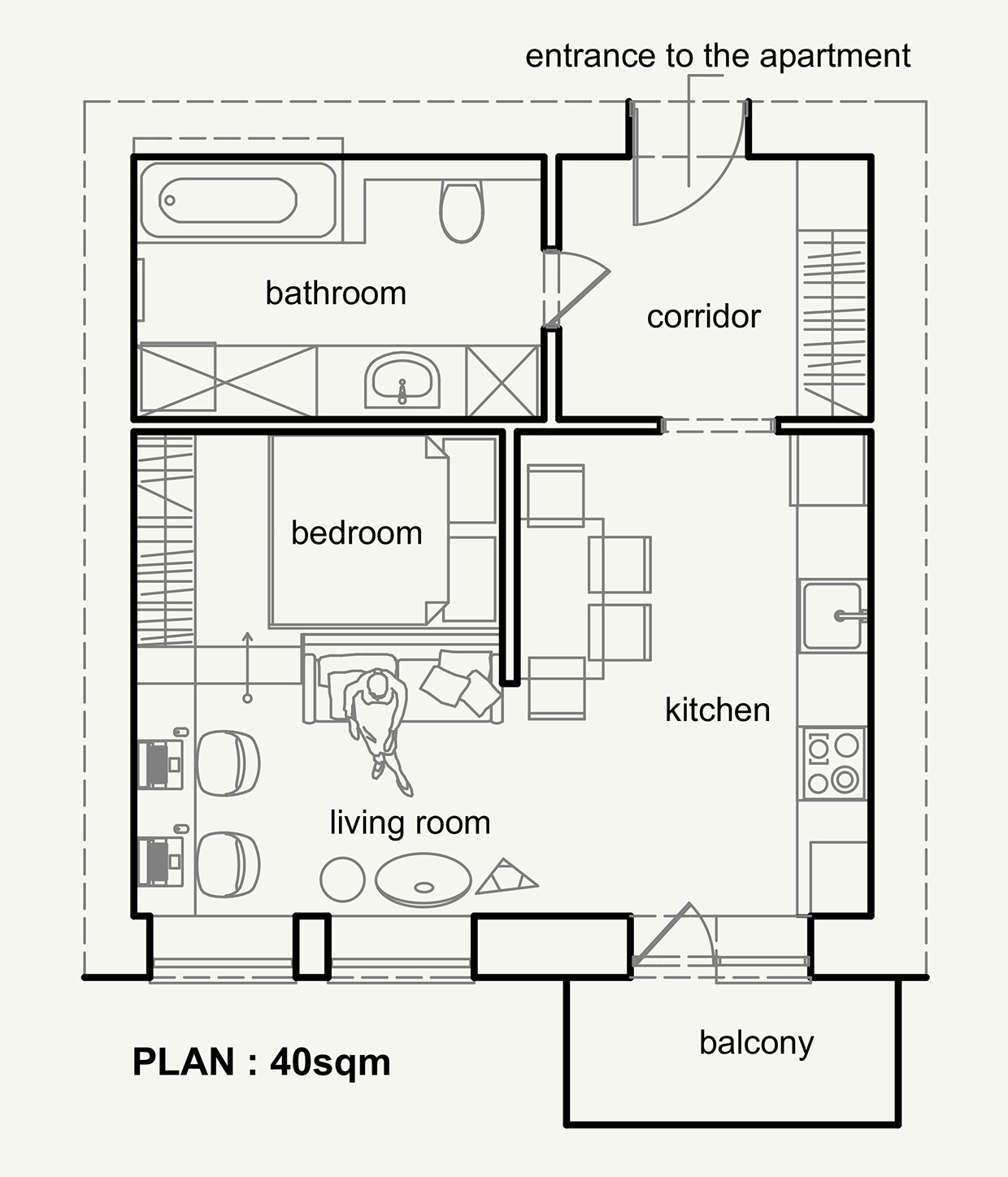 Living small with style 2 beautiful small apartment plans - Room layout planner free ...