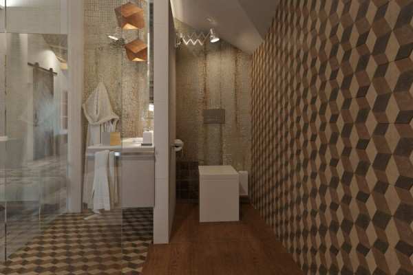 4 small studio apartments decorated in 4 different styles - Cool wall treatments ...