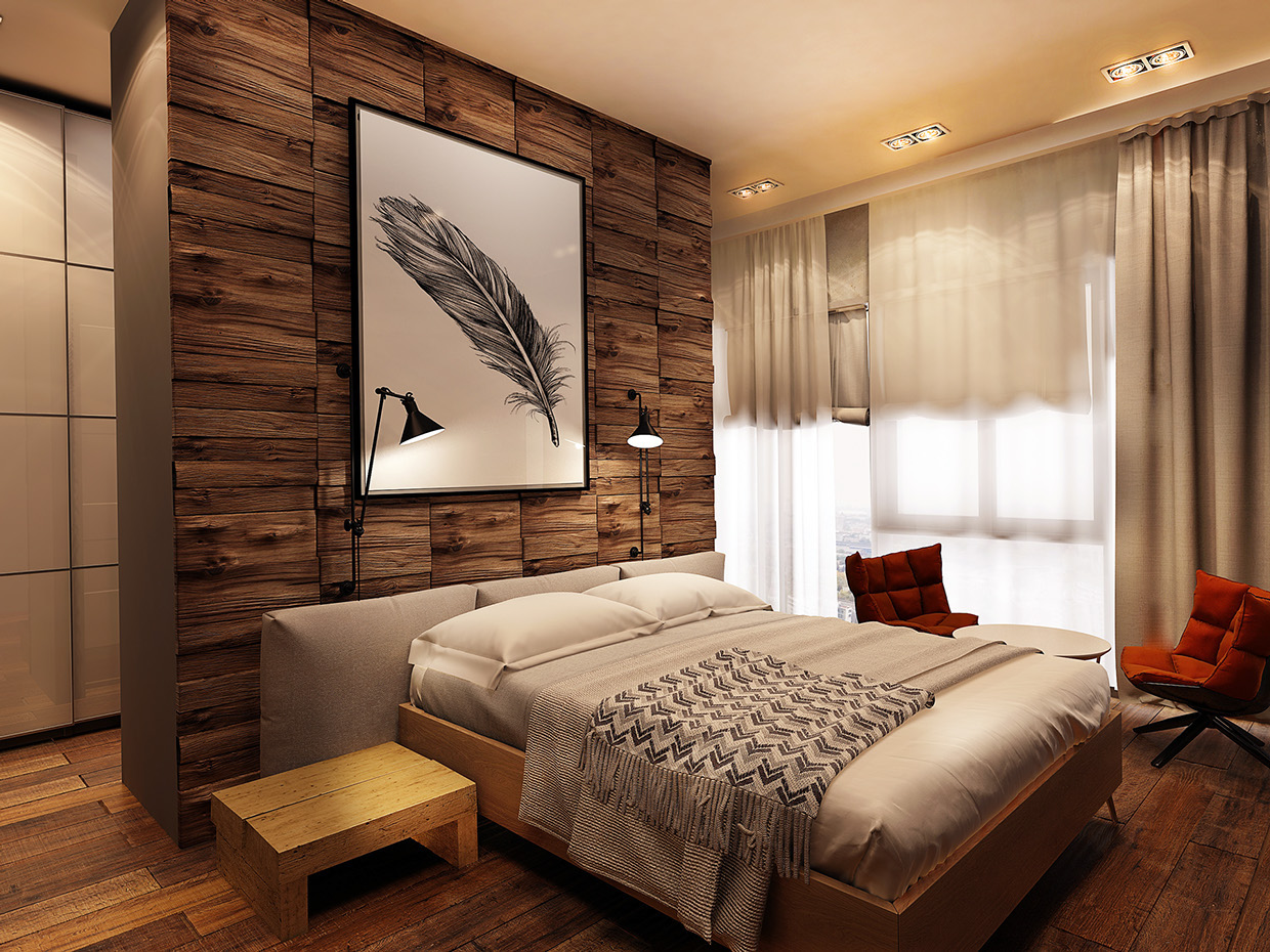 cool wood accent wall interior design ideas. Black Bedroom Furniture Sets. Home Design Ideas