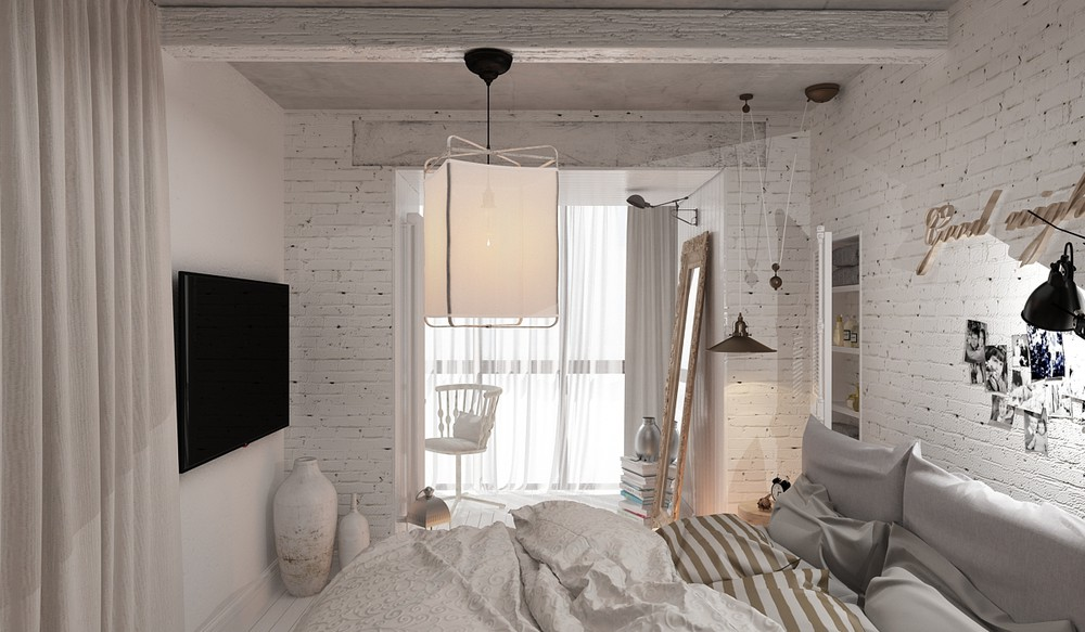 3 feminine apartments designed for 3 sizes for Cozy bedroom ideas