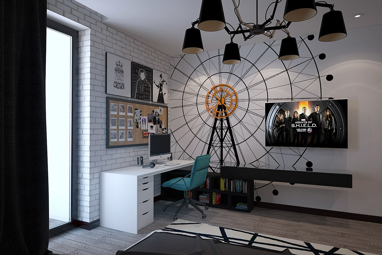 Funky Rooms That Creative Teens Would Love: creative wall hangings