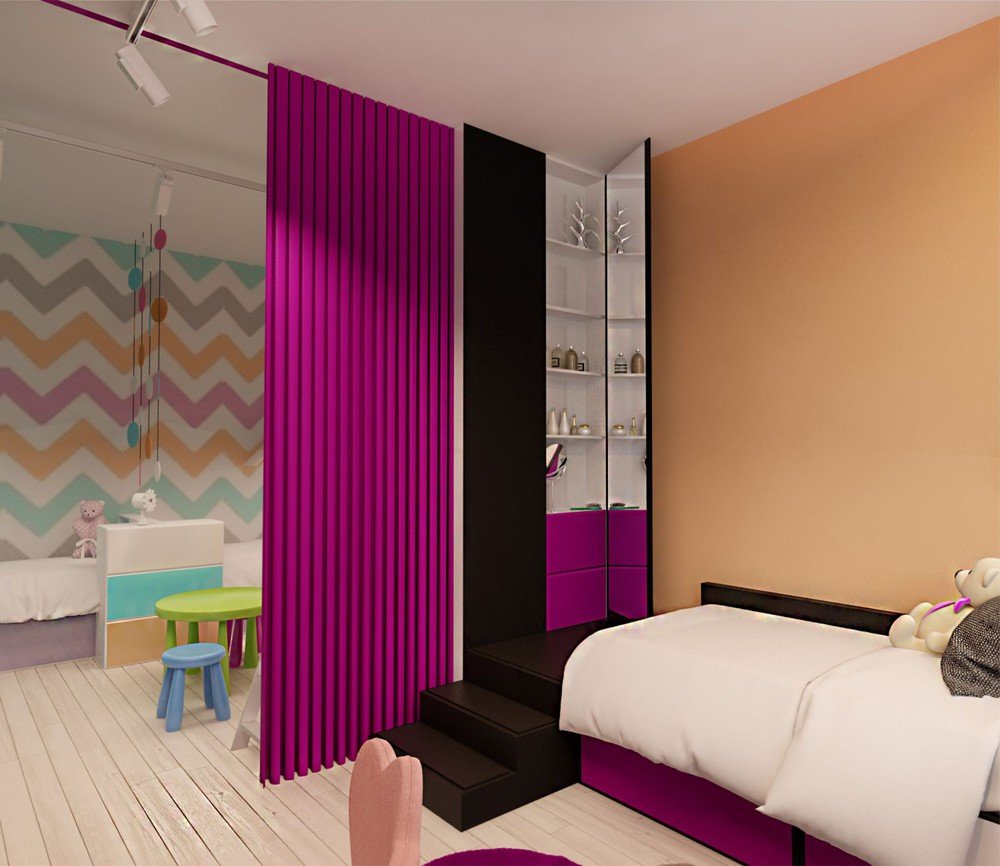 Cute Colorful Kids Room - Creative apartment designs perfect for young families