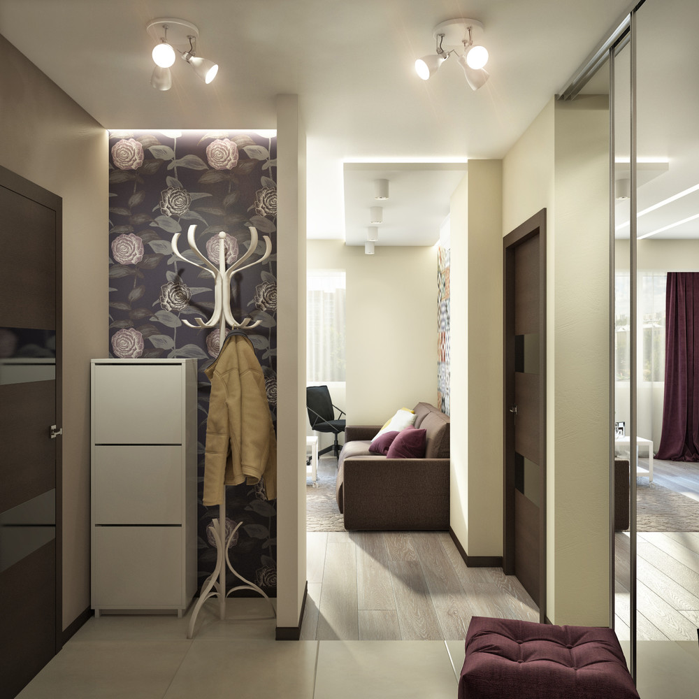 Dark Wine Accent Colors - Creative apartment designs perfect for young families