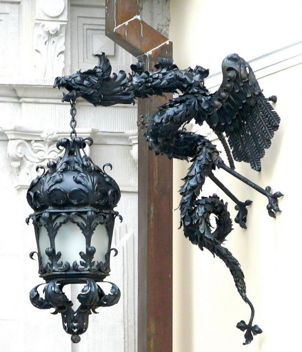 Finally, this stunning dragon lamp calls to mind the best in medieval design with a modern sensibility.