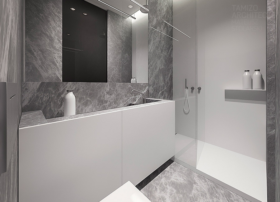 Grey Marble Bathroom Ideas : Gray marble bath interior design ideas