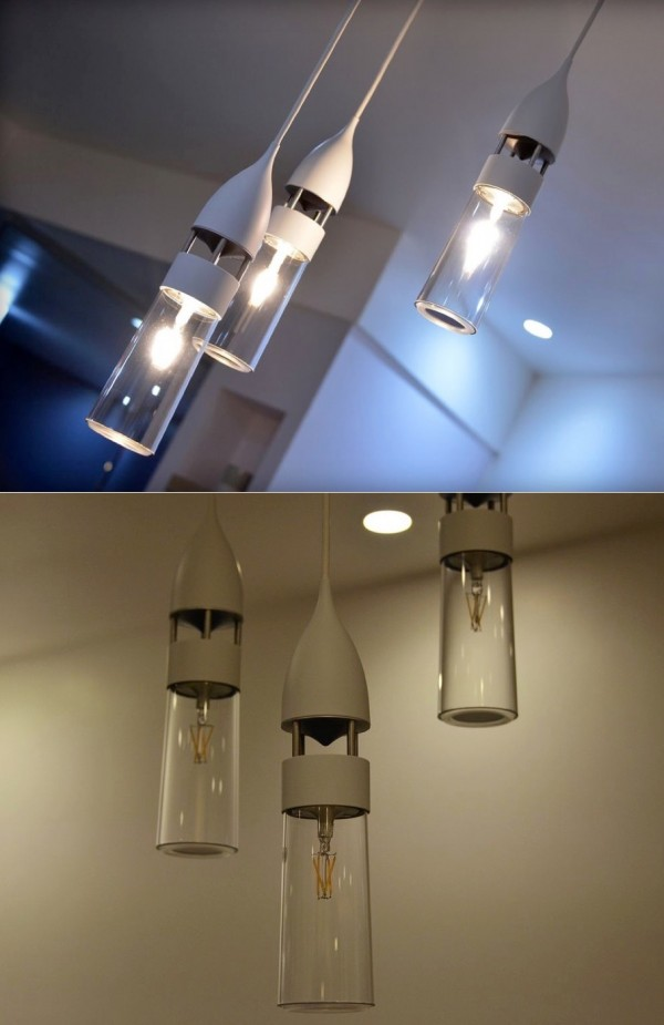While these suspended lights are not necessarily as beautiful as some of the others included here, they have extra functionality: they actually play music.