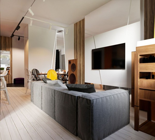 3 creative apartment designs perfect for young families for Young modern living room