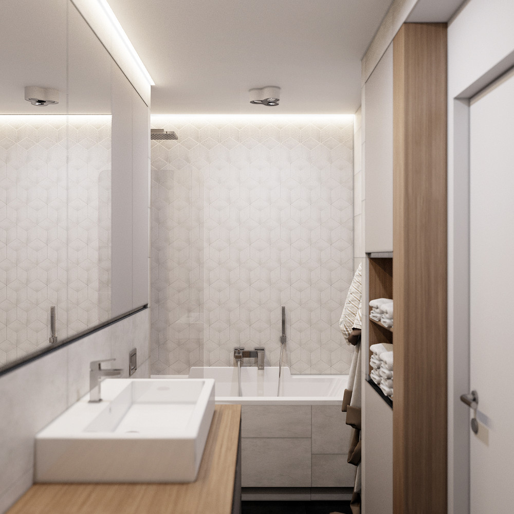 Modern Sink - Creative apartment designs perfect for young families