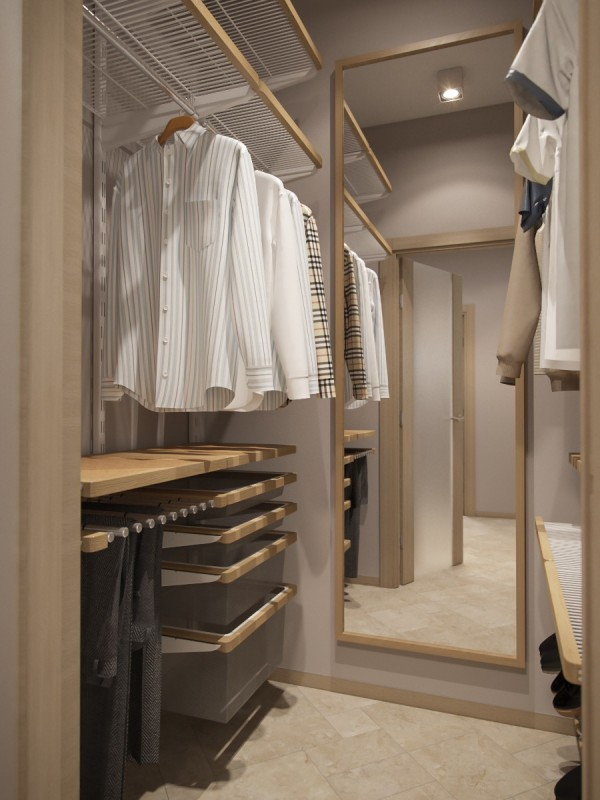 Small smart studios with slick simple designs for Studio closet design