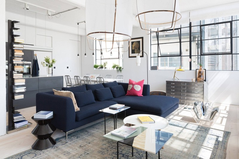 Converted industrial space becomes a pretty sunny apartment