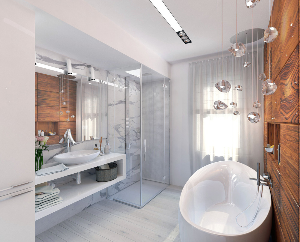 pretty-bathroom-lighting | Interior Design Ideas.