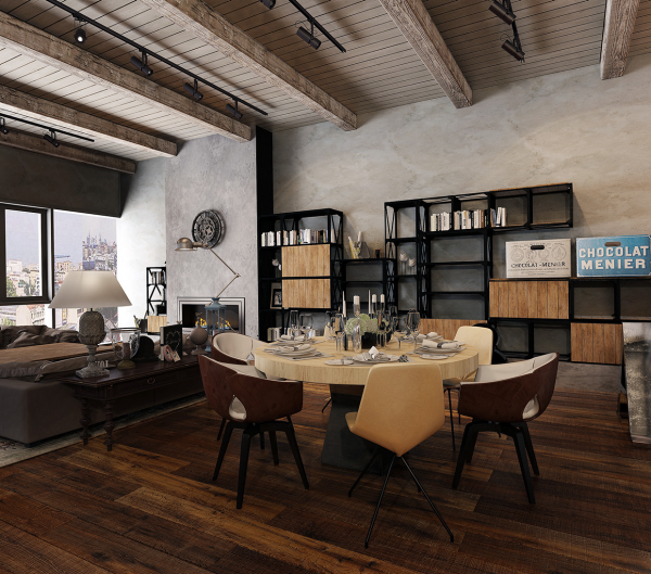 Rustic industrial design converted industrial spaces becomes gorgeous and spacious apartments rustic industrial design