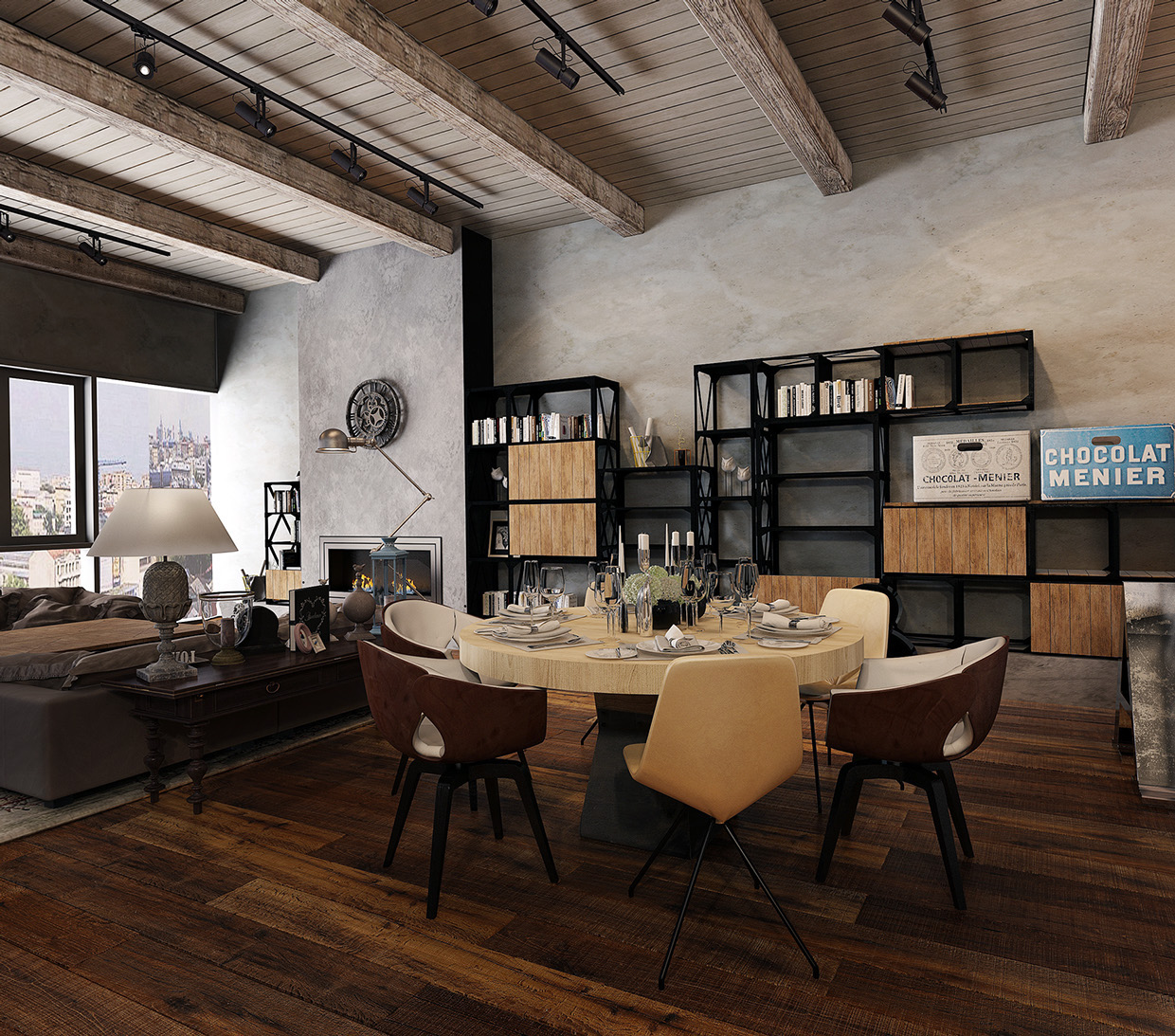 Converted industrial spaces becomes gorgeous apartments for Industrial home designs