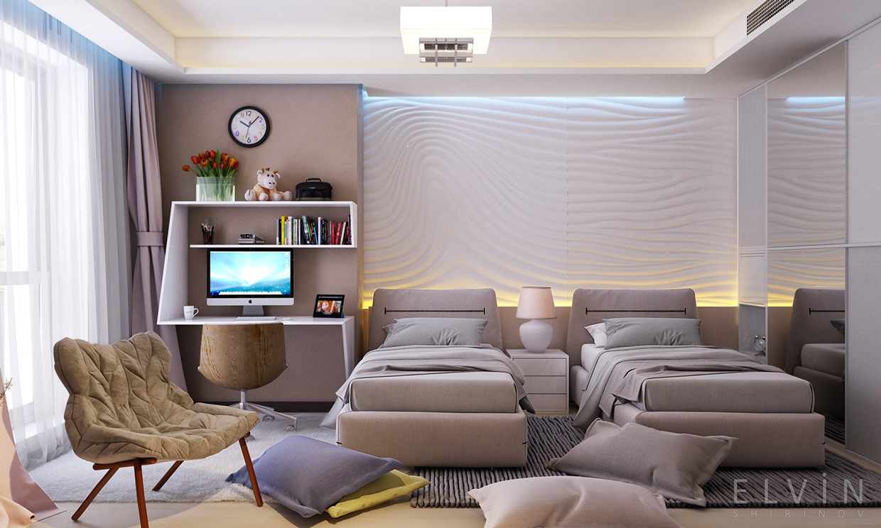 Funky rooms that creative teens would love for Habitacion con dos camas