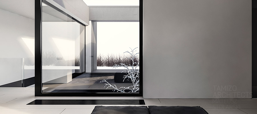 Sleek Minimal Home - A single family home interior in cool shades of gray