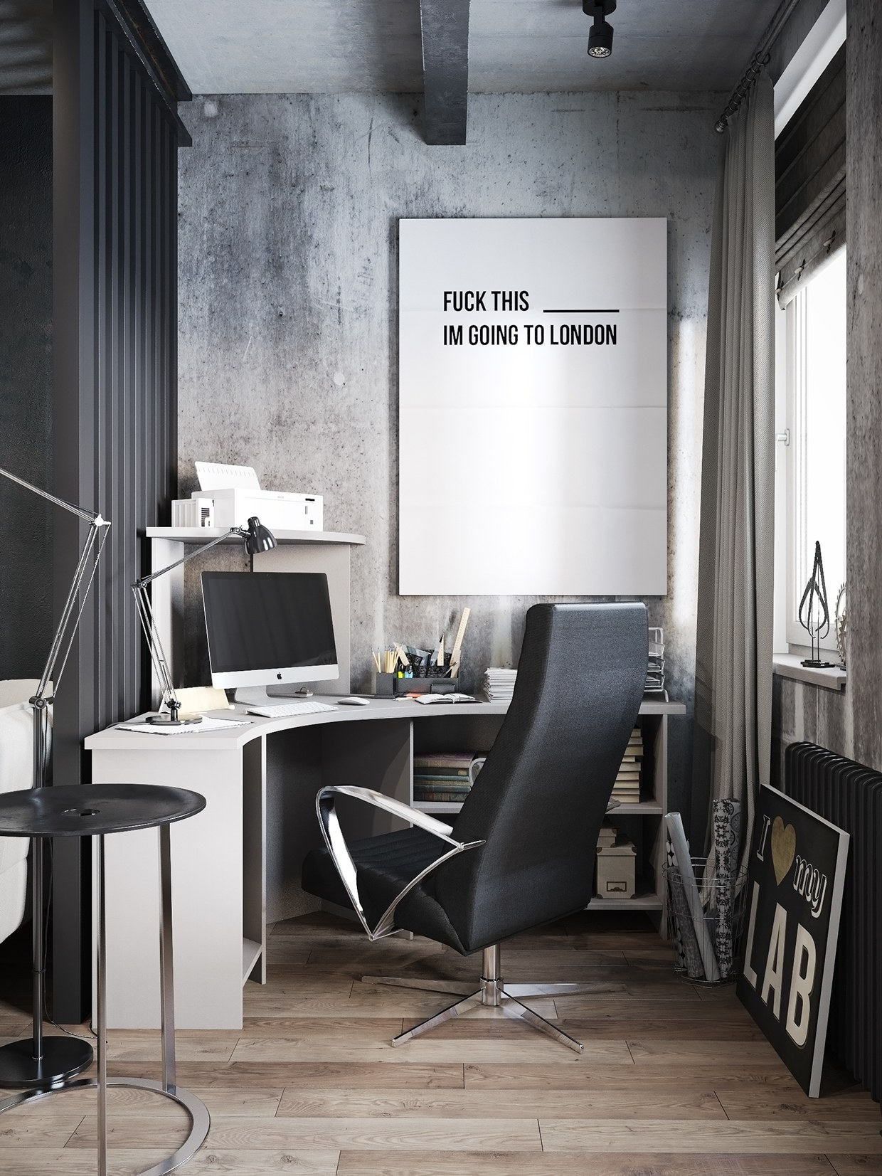 A hipster inspired design concept for russian gaming for Industrial office interior