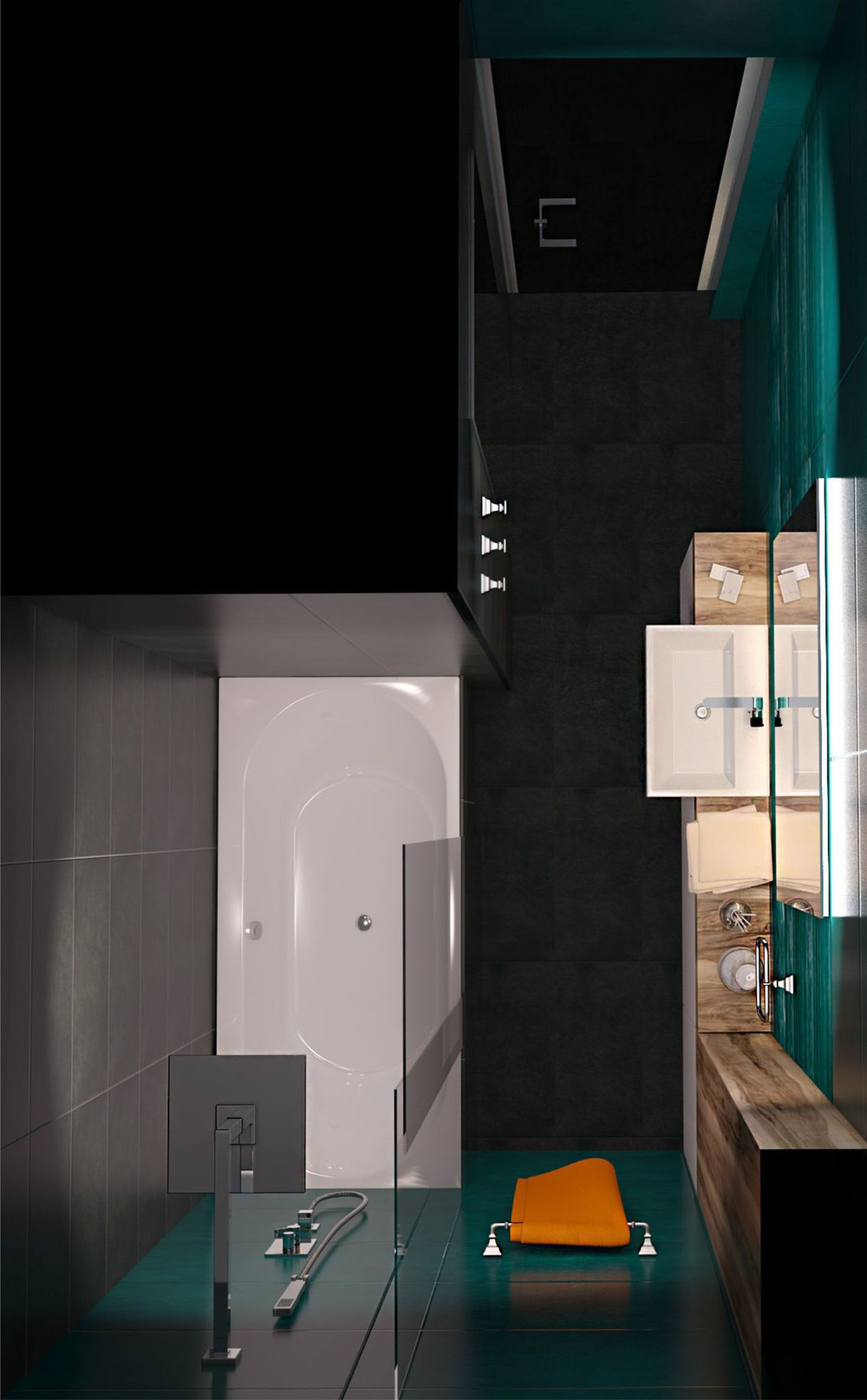 Small Bath Design - Creative apartment designs perfect for young families
