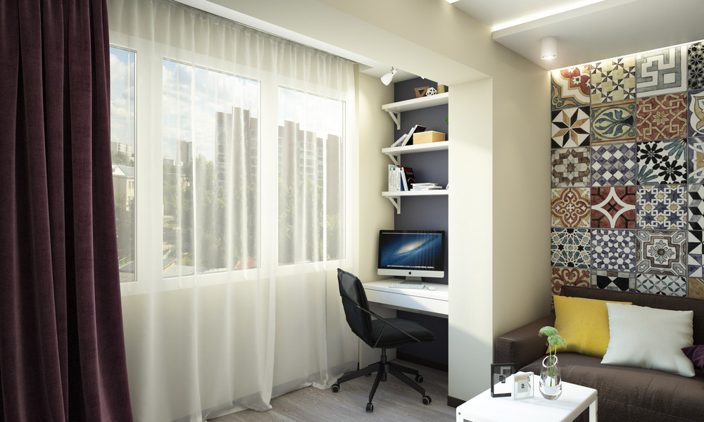 Small Home Office Space - Creative apartment designs perfect for young families
