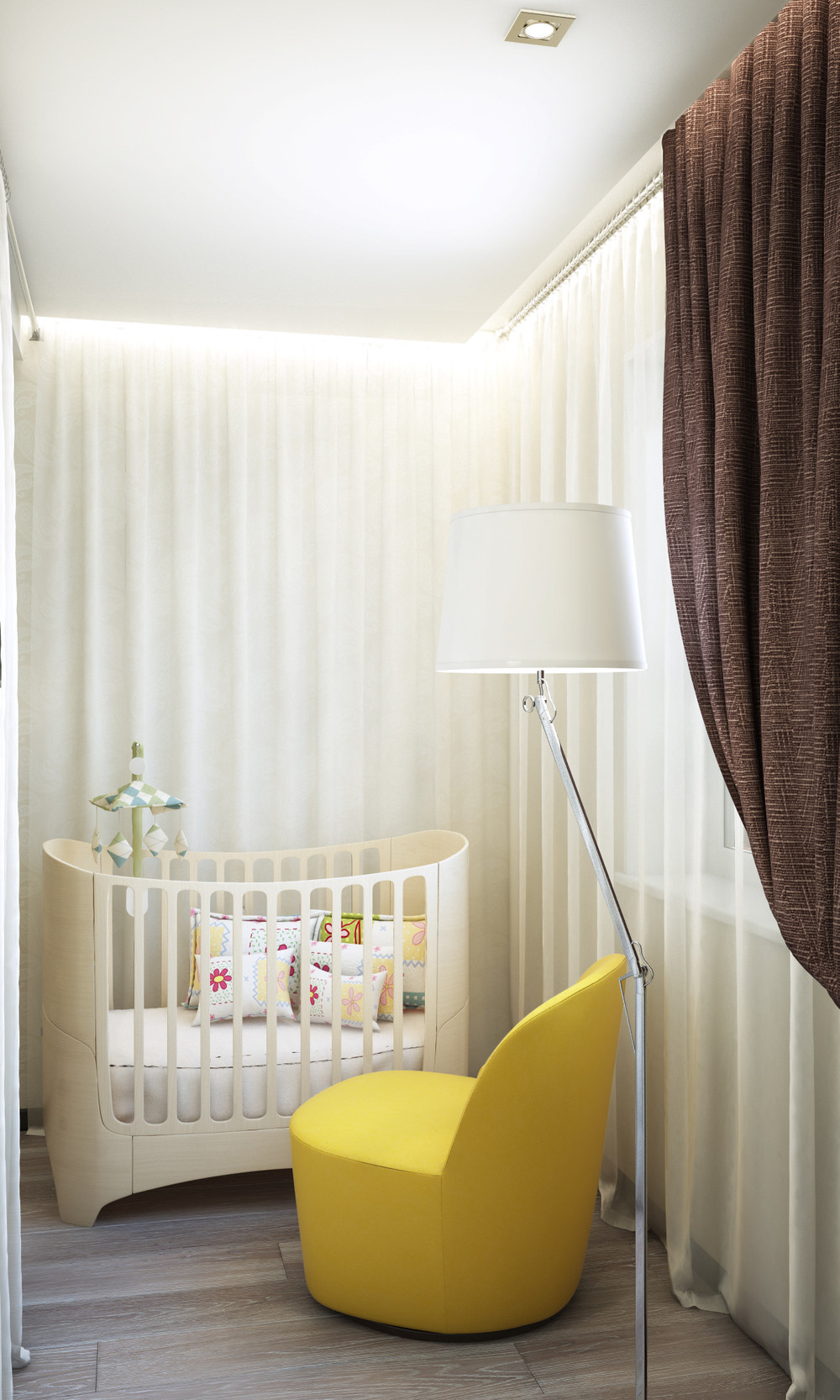 Small Nursery Design - Creative apartment designs perfect for young families