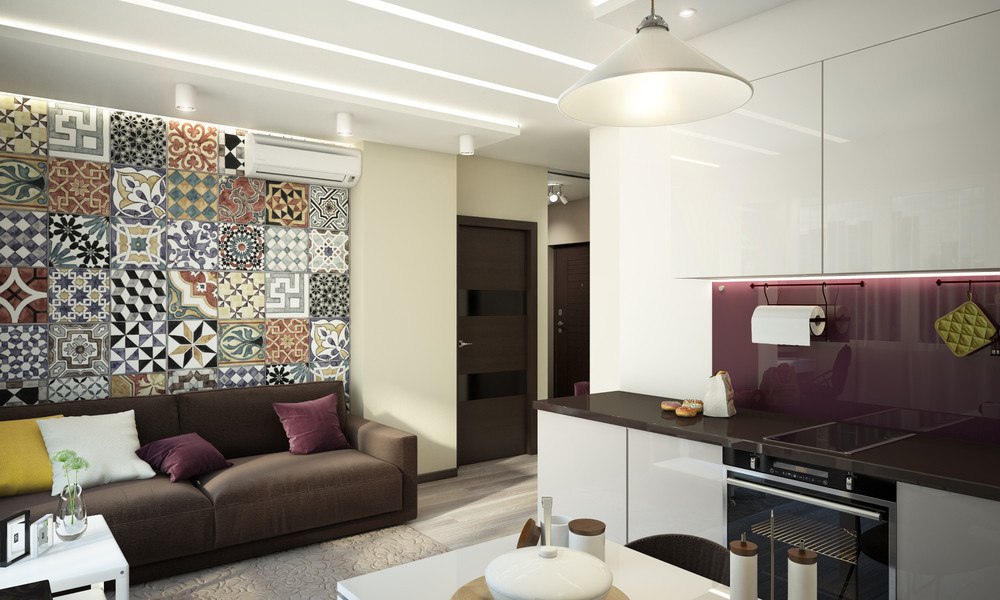 Soft Brown Sofa - Creative apartment designs perfect for young families