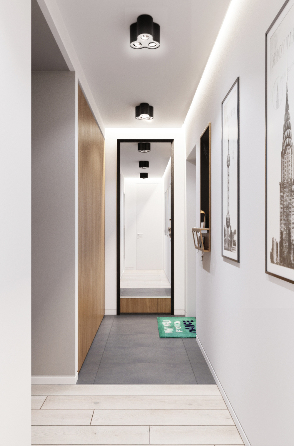 Stone Tile Floor - Creative apartment designs perfect for young families
