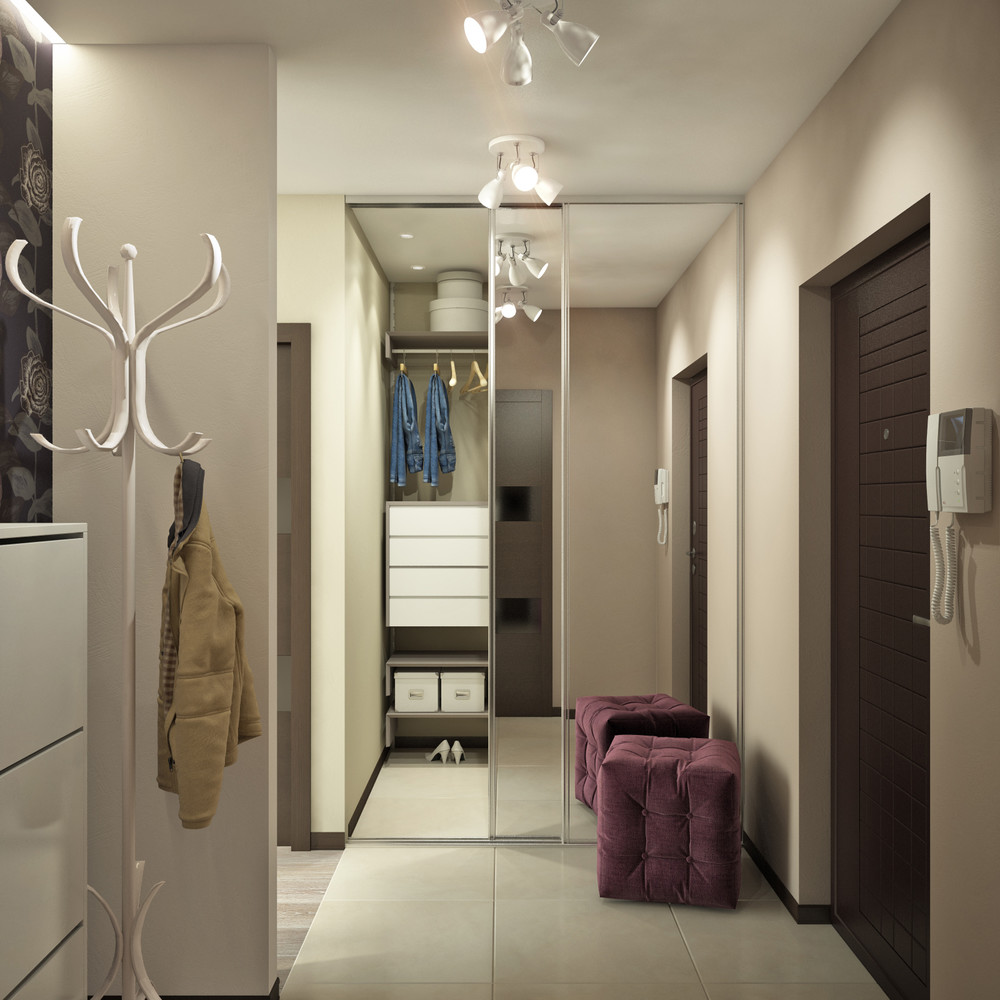 Tufted Ottoman - Creative apartment designs perfect for young families