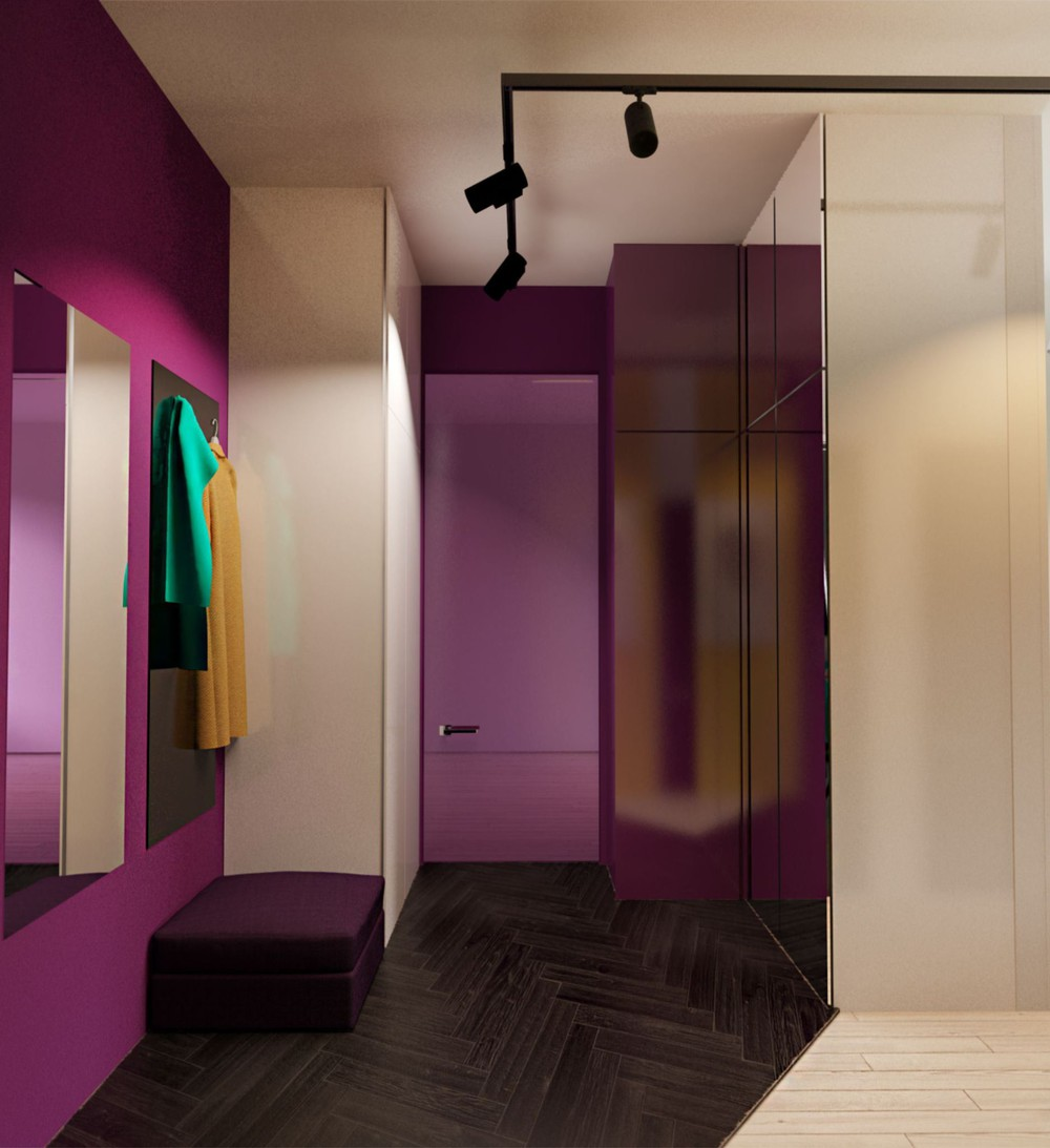 Wild Orchid Bedroom - Creative apartment designs perfect for young families
