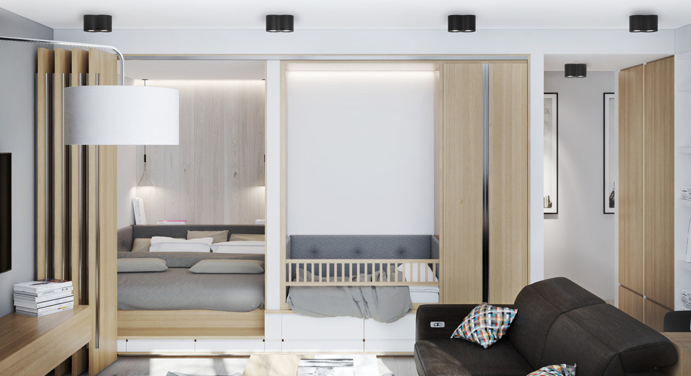 Wood Panel Ideas - Creative apartment designs perfect for young families