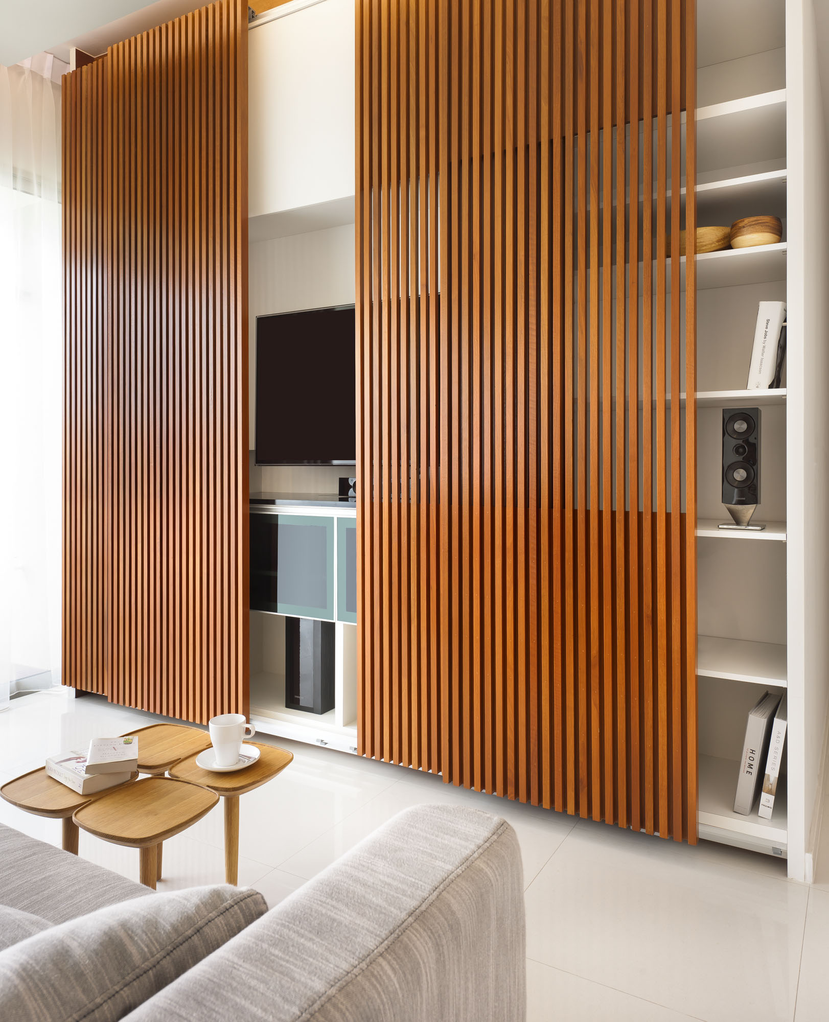 wood slat wall covering