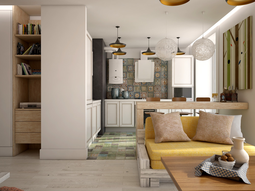 3 open studio apartment designs for Diseno apartamento 50 metros cuadrados