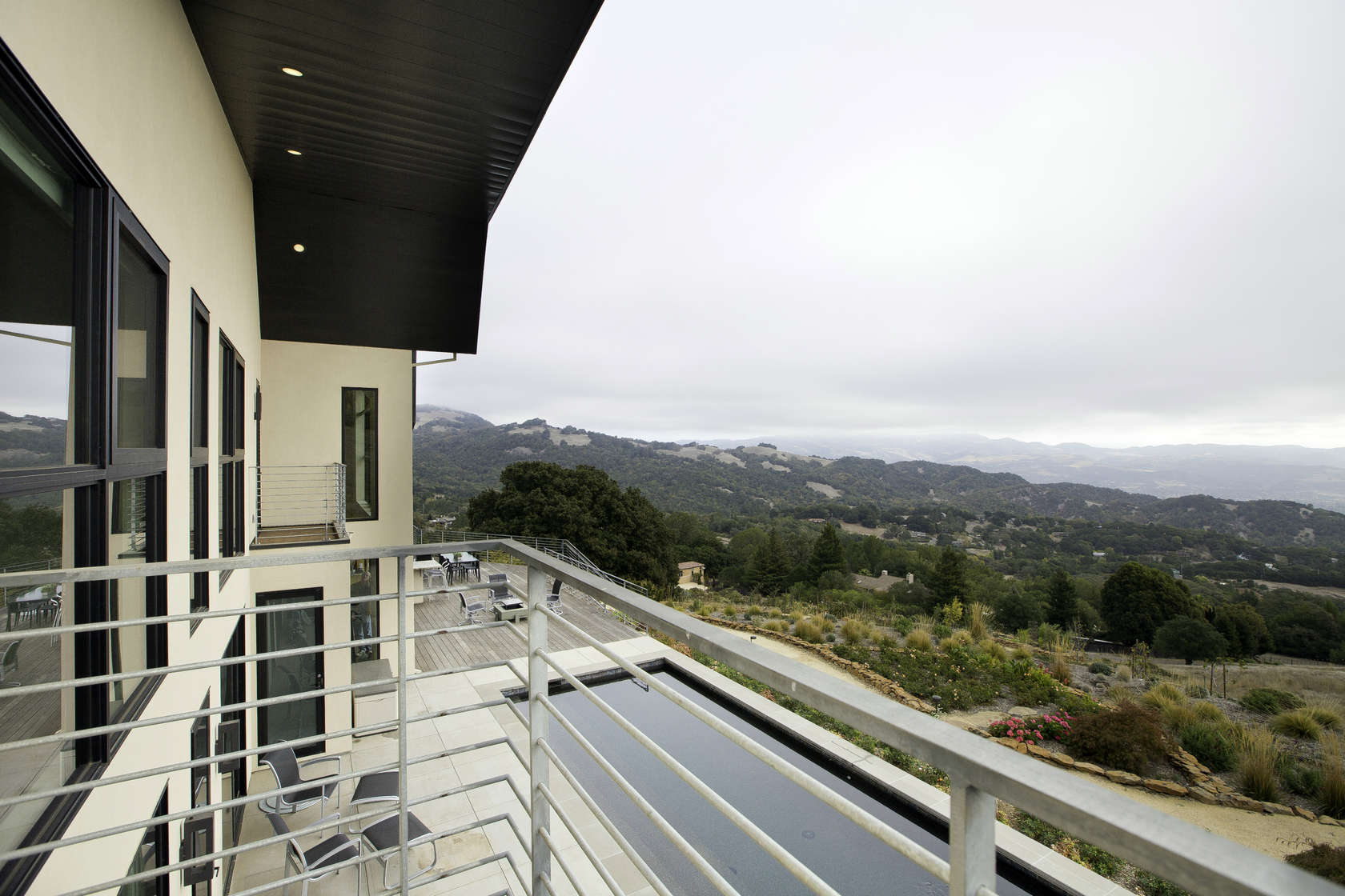 Balcony View - Custom home in sonoma gives a modern twist to wine country