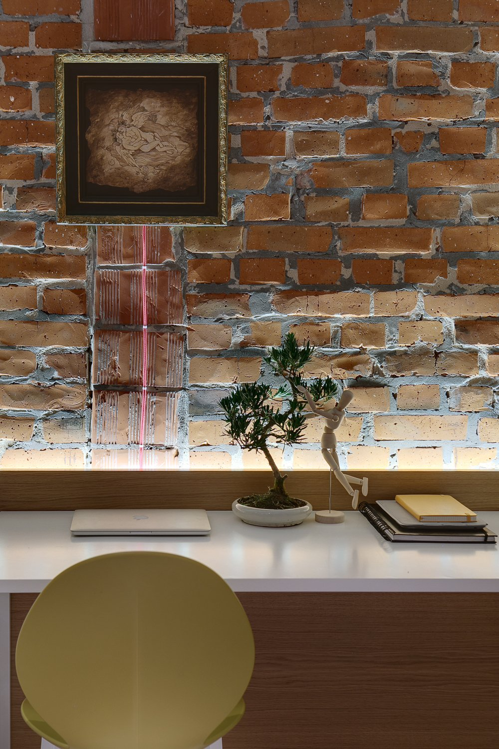 Brick Wall Hanging - A modern home with personality of perfect for a fun couple