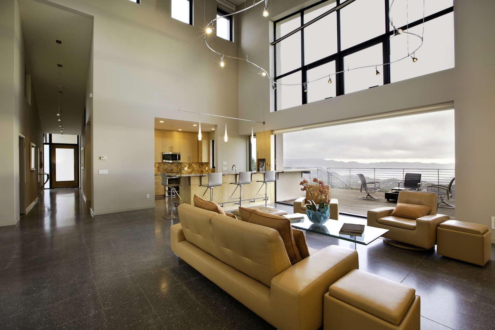 Buttery Leather Sofa - Custom home in sonoma gives a modern twist to wine country