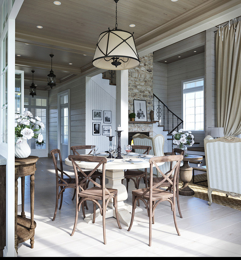 Cozy Dining Room - 2 provence style apartment designs with floor plans