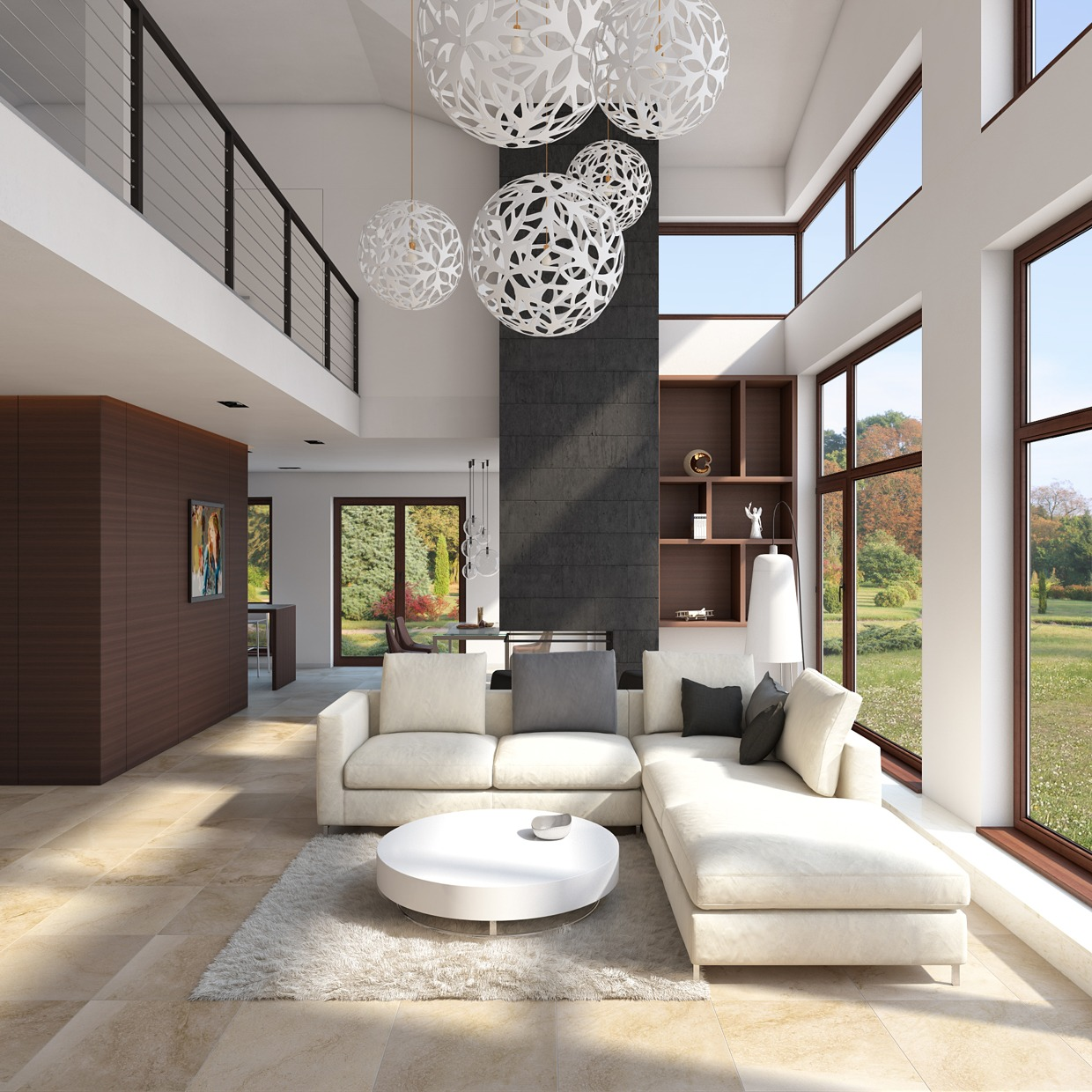 Cream Sectional - 4 homes from the same designer showcase a diversity of style