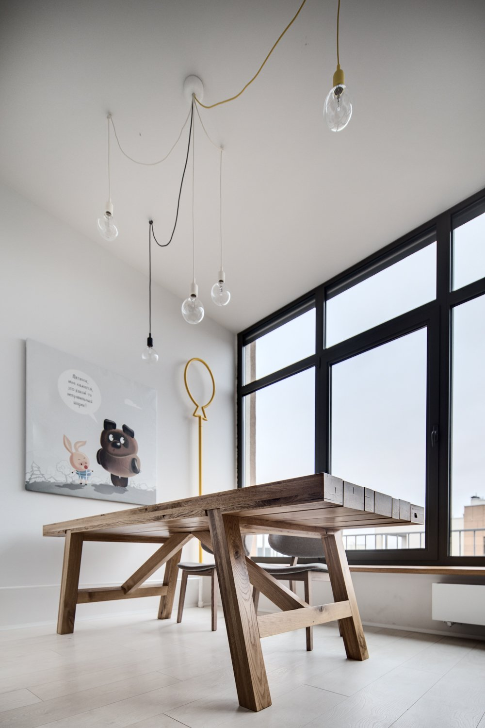Dangling Light Bulbs - A modern home with personality of perfect for a fun couple
