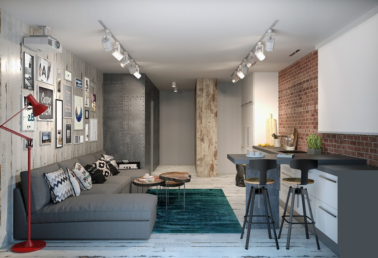 Exposed Brick - 4 homes from the same designer showcase a diversity of style