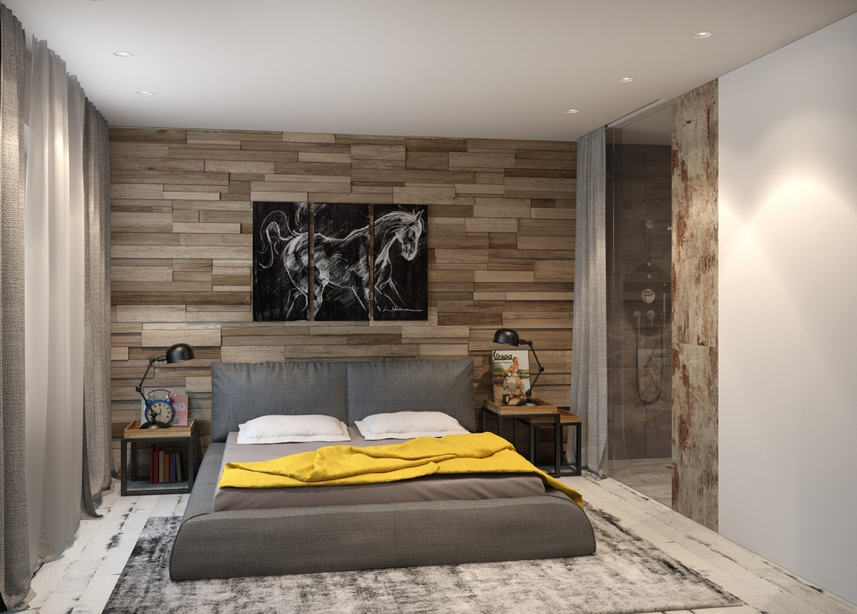 Gray Platform Bed - 4 homes from the same designer showcase a diversity of style