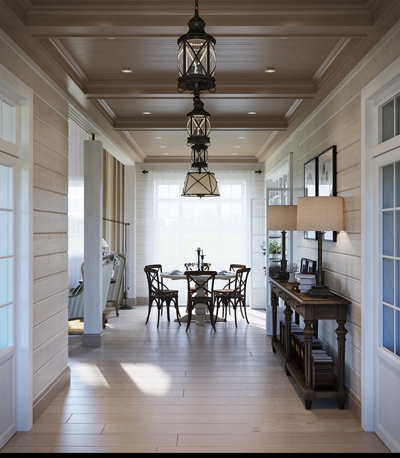 Hallway Table Ideas - 2 provence style apartment designs with floor plans