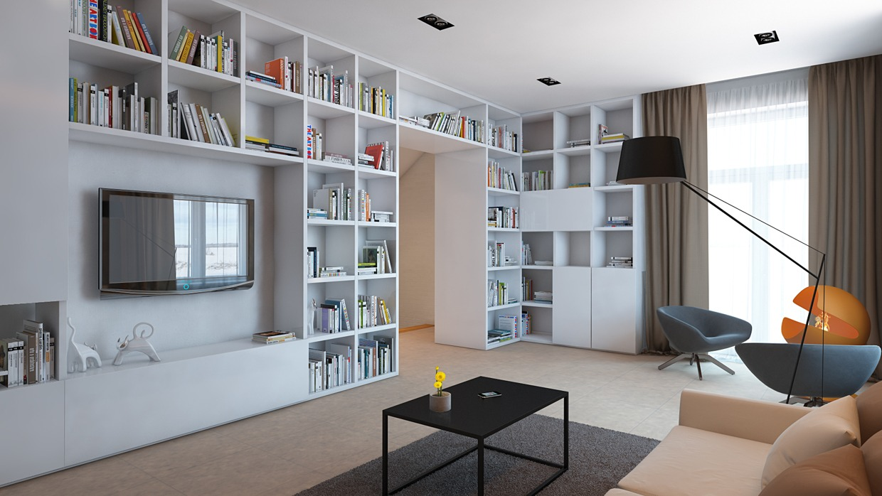 Huge Bookshelves - 4 homes from the same designer showcase a diversity of style