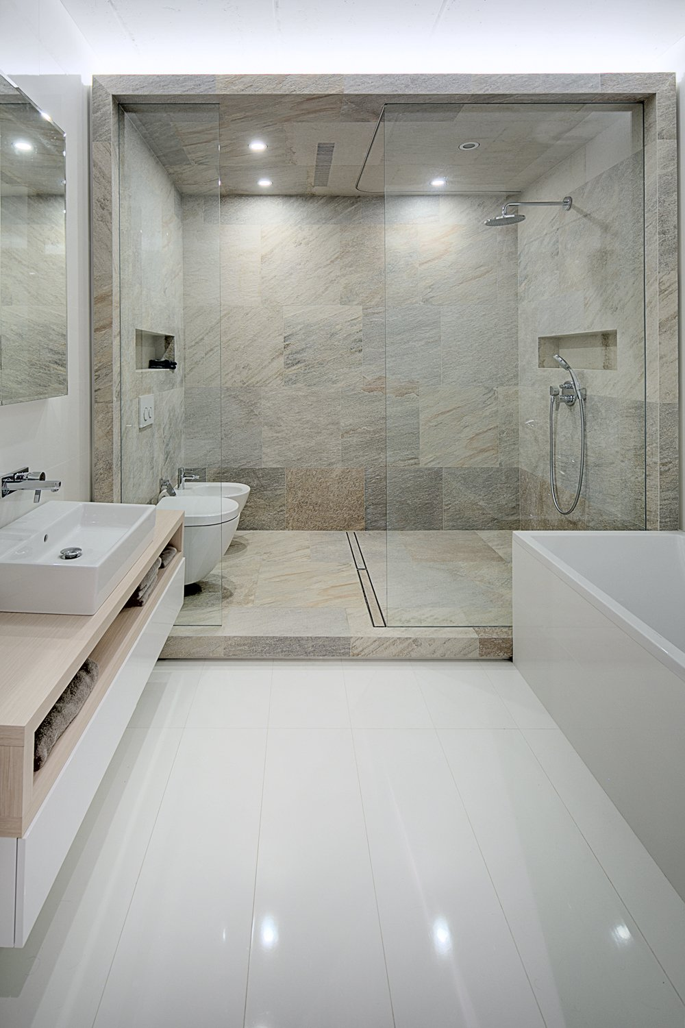 Huge Shower - A modern home with personality of perfect for a fun couple