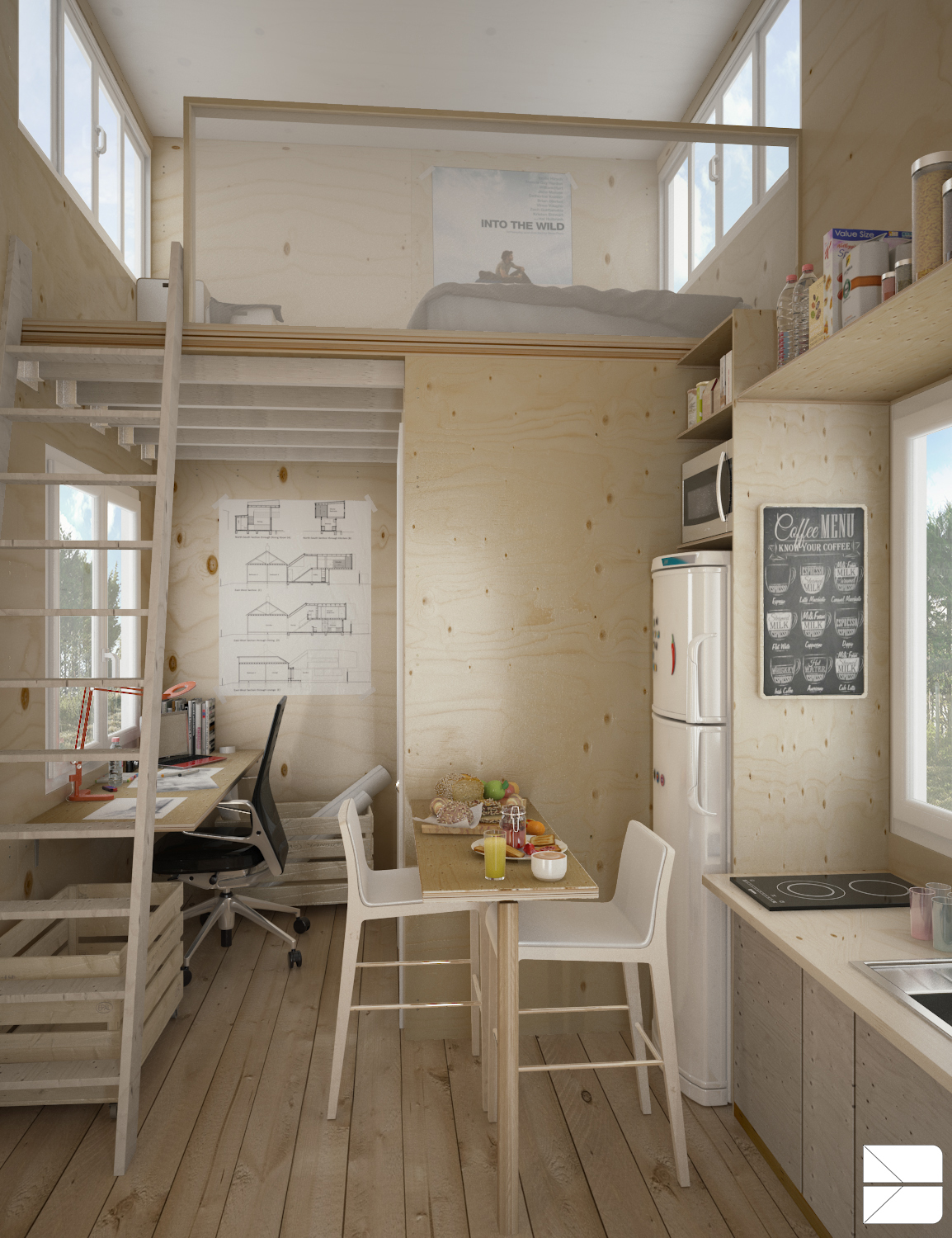 Designing for super small spaces 5 micro apartments - Ideas para loft ...