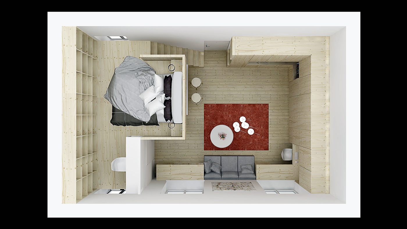 Designing for super small spaces 5 micro apartments - Bedroom style for small space model ...